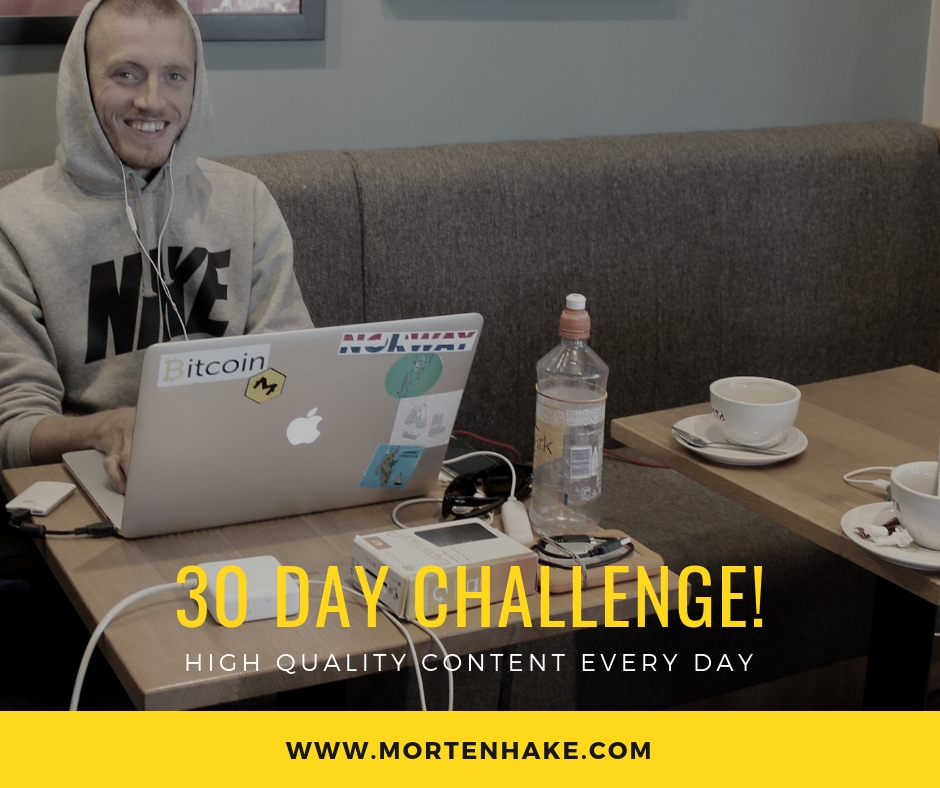 Morten Hake 30 day challenge